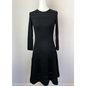 Eliza J Black Knit Longsleeve Dress